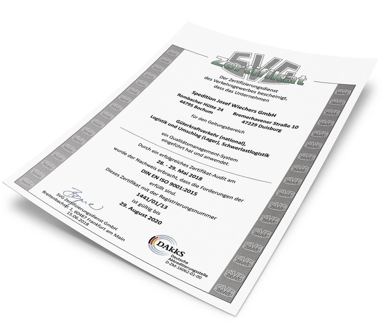 Qualitätsmanagementsystem nach DIN EN ISO 9001:2015